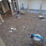 Pavimentazione in cubetti di porfido a Vigevano (PV)